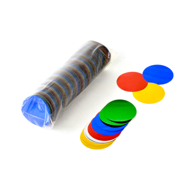 Round Confetti 42mm Metallic
