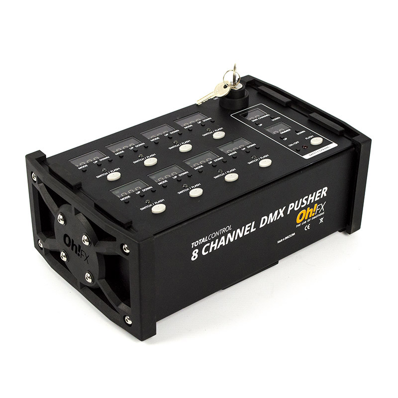 8 CHANNEL DMX PUSHER