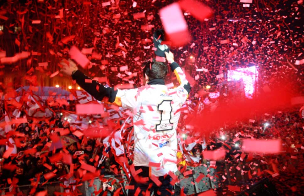 2013 MotoGP world champion Celebration