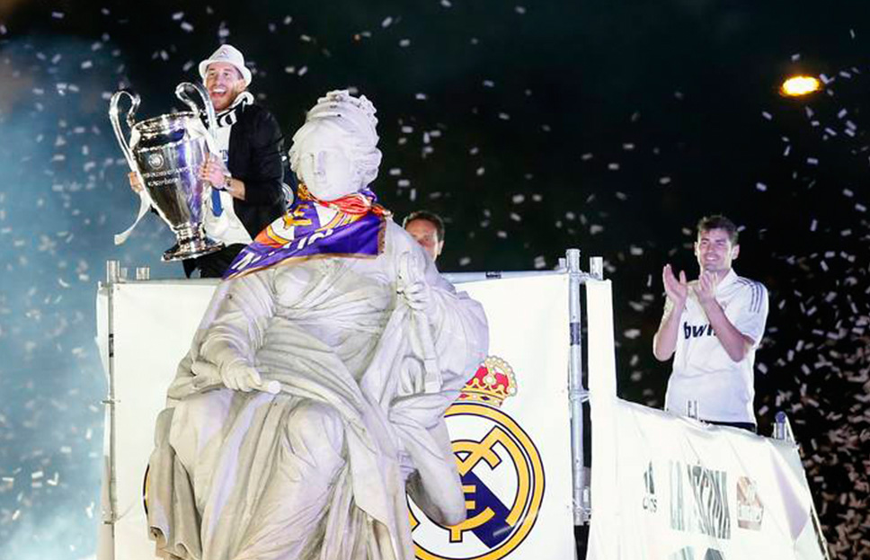 2014 Champions League Celebration